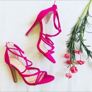 Glaze Shoes - Hot Pink Strappy Heels 7a4aeee1f
